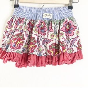 PERSNICKETY Girls Layered Skirt Floral